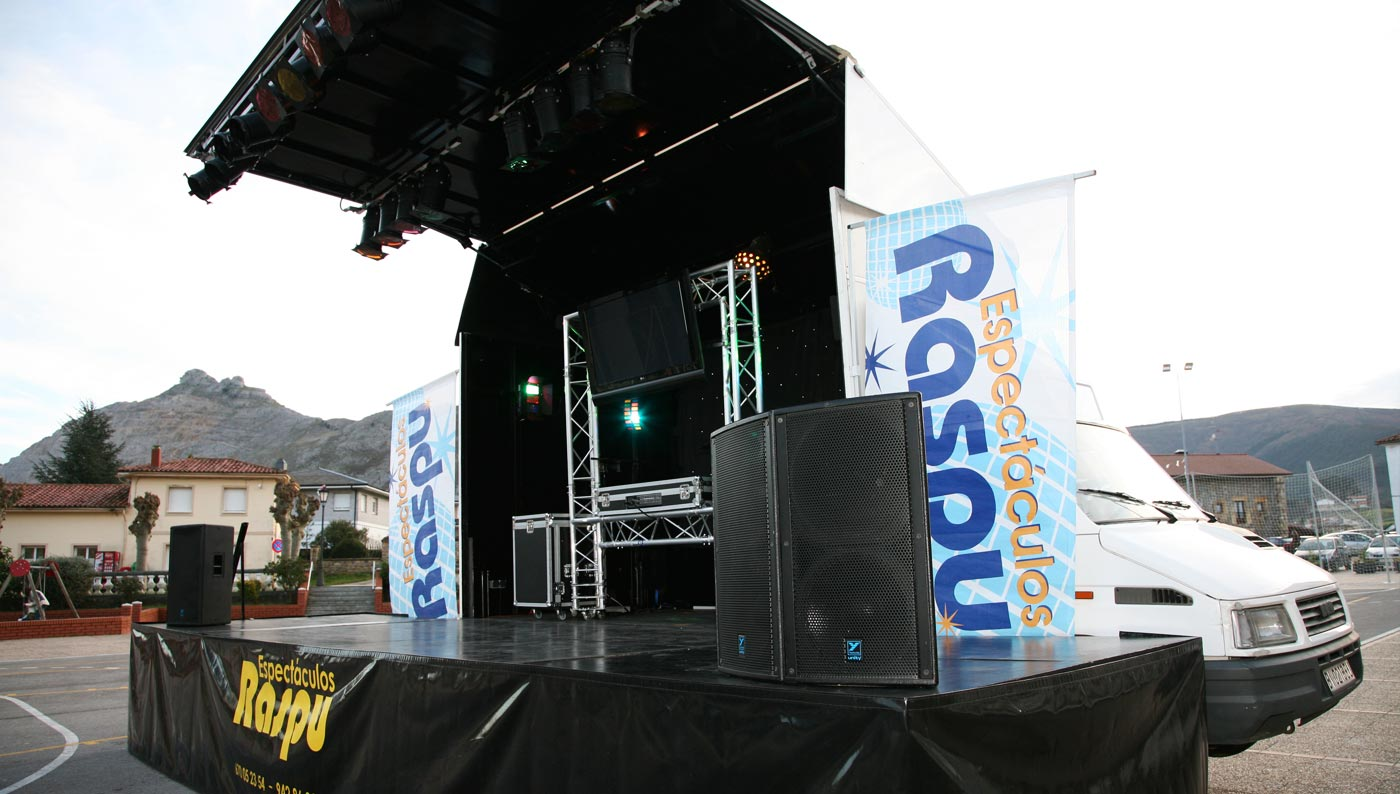 Camión escenario - Espectáculos Raspu